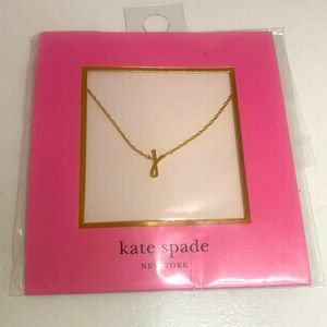 KATE SPADE INITIAL J LETTER GOLD NECKLACE